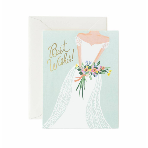 "Jollity & Co, ""Best Wishes"" Wedding Greeting Card"