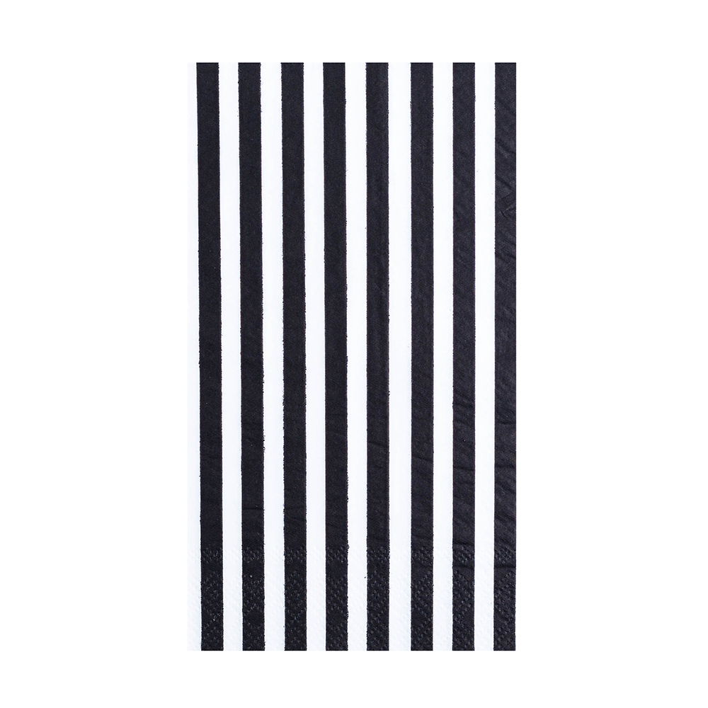 Black & White Striped More Party Faves Guest Napkins from Jollity & Co