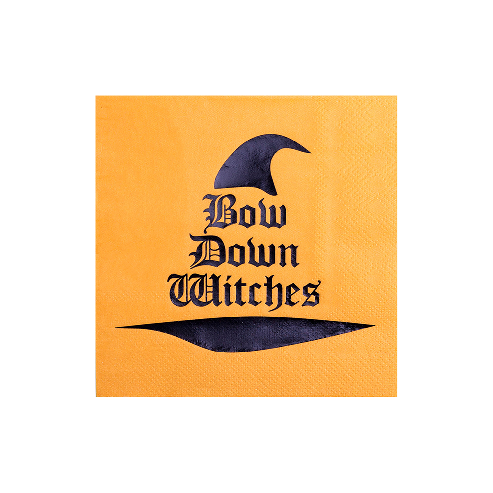 """Bow Down Witches"" Cocktail Napkins from Jollity & Co"
