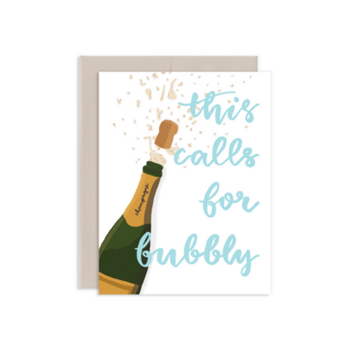 Pop the Bubbly Greeting Card, Jollity & Co