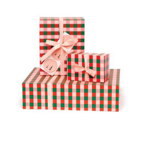 Buffalo Plaid Gift Wrap Set