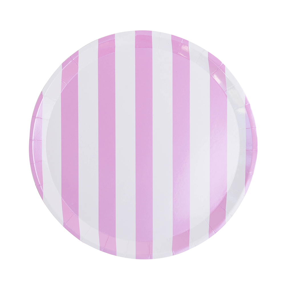 Stuck on You Candy Striped Dinner Plates from Jollity & Co