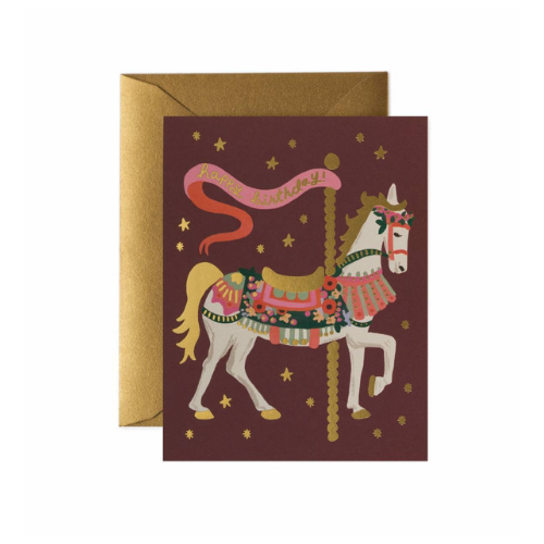Jollity & Co, Carousel Happy Birthday Card