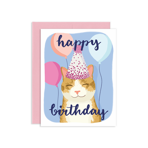 """Happy Birthday"" Cat Card, Jollity & Co"