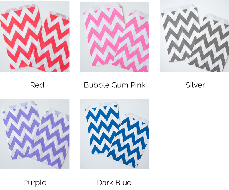 Chevron Striped Treat Bags - 5 Styles