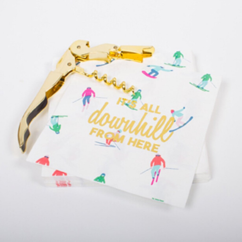 Jollity & Co, Downhill Cocktail Napkins