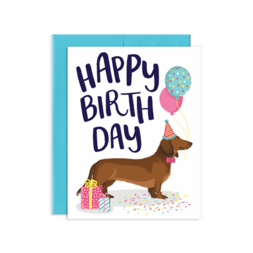 """Happy Birthday"" Dachshund Card, Jollity & Co"
