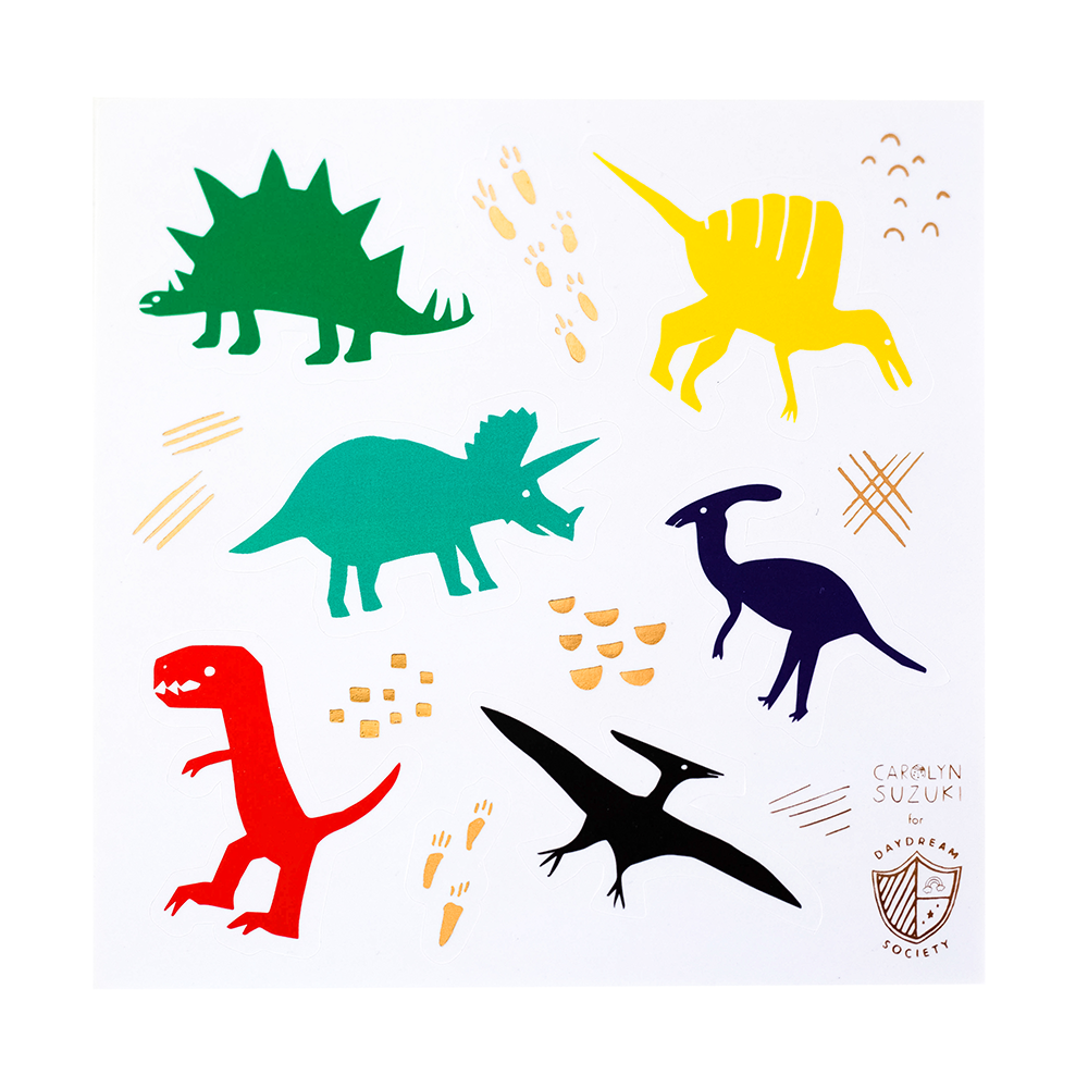 dinomite sticker set by daydream society