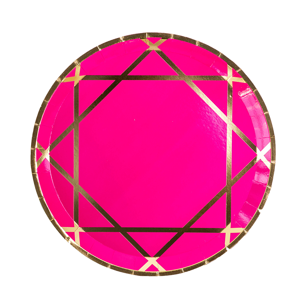 Enchanté Pink Dinner Plates from Jollity & Co