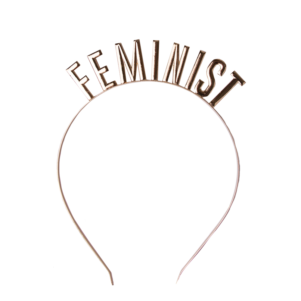 """Feminist"" Metal Headband from Jollity & Co"