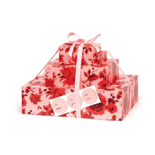 Christmas Floral Gift Wrap Set