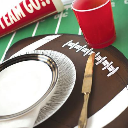 Die-Cut Football Placemat Flatlay, Jollity & Co