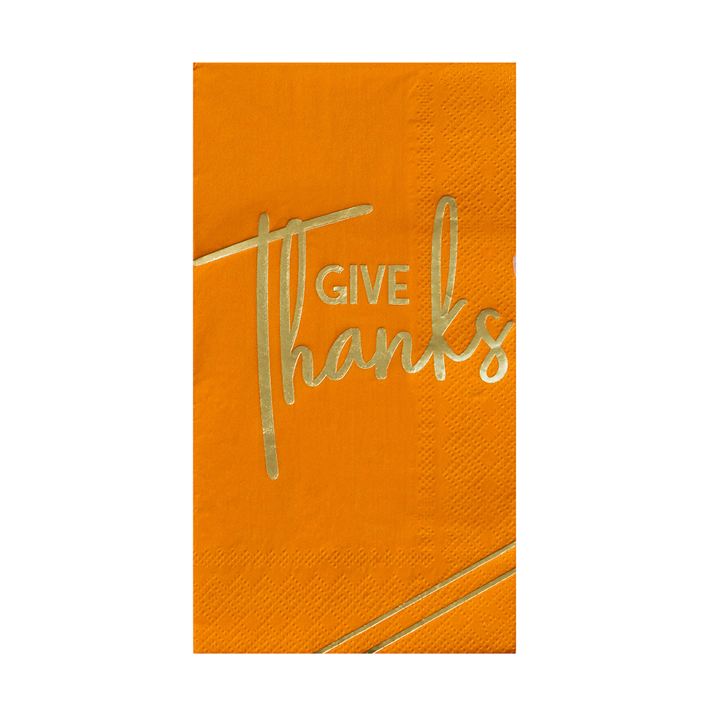 "Gather ""Give Thanks"" Guest Napkins from Jollity & Co"