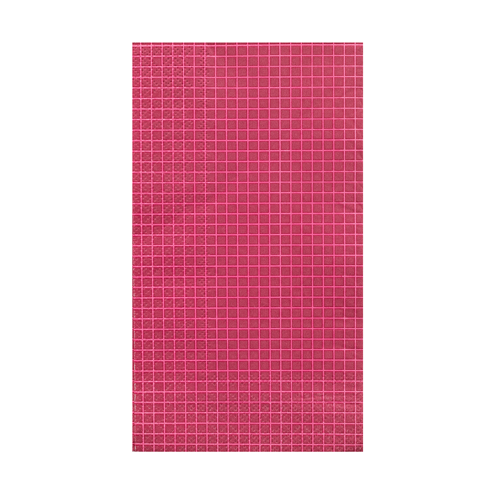Magenta Grid Print More Party Faves Guest Napkins from Jollity & Co