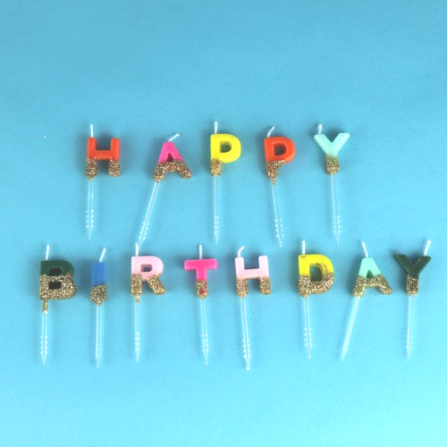 """Happy Birthday"" Candle Set"