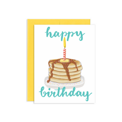 """Happy Birthday"" Pancake Card, Jollity & Co"