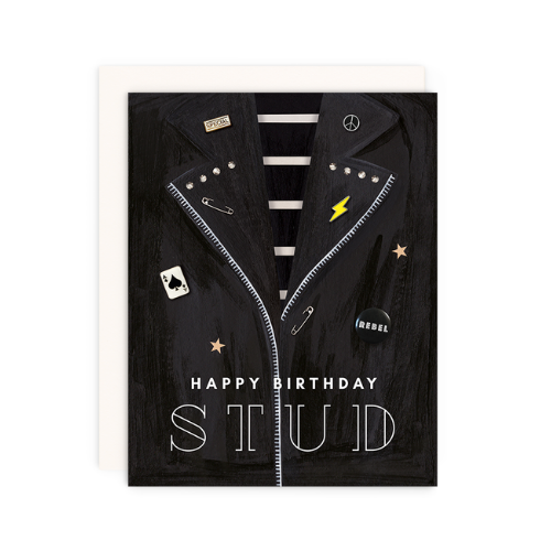 """Happy Birthday Stud"" Card, Jollity & Co"