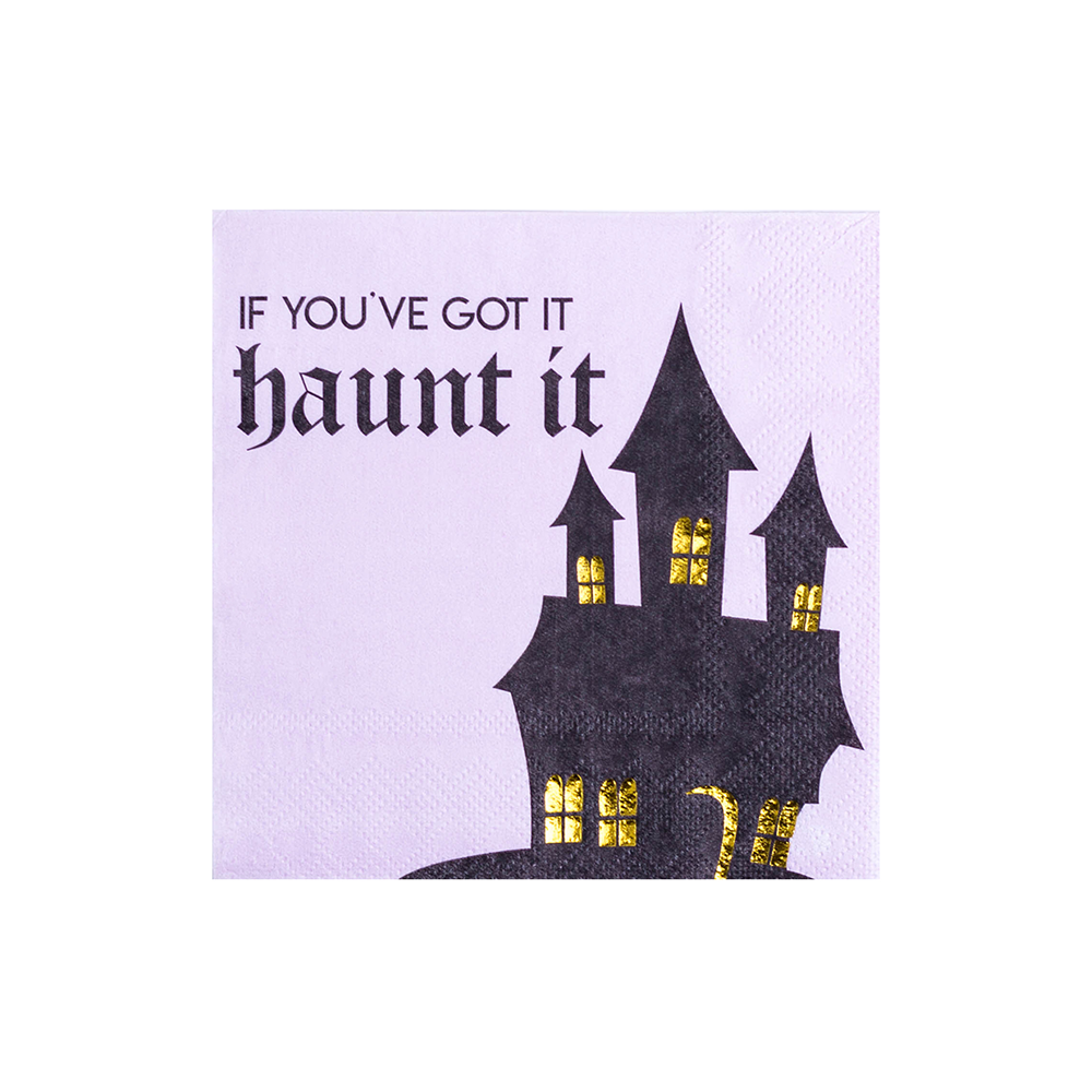 """If You've Got It Haunt It"" Cocktail Napkins from Jollity & Co"