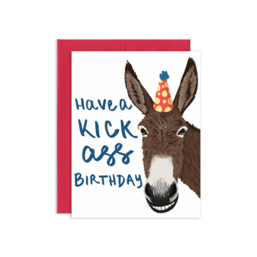 Kick Ass Birthday Card, Jollity & co