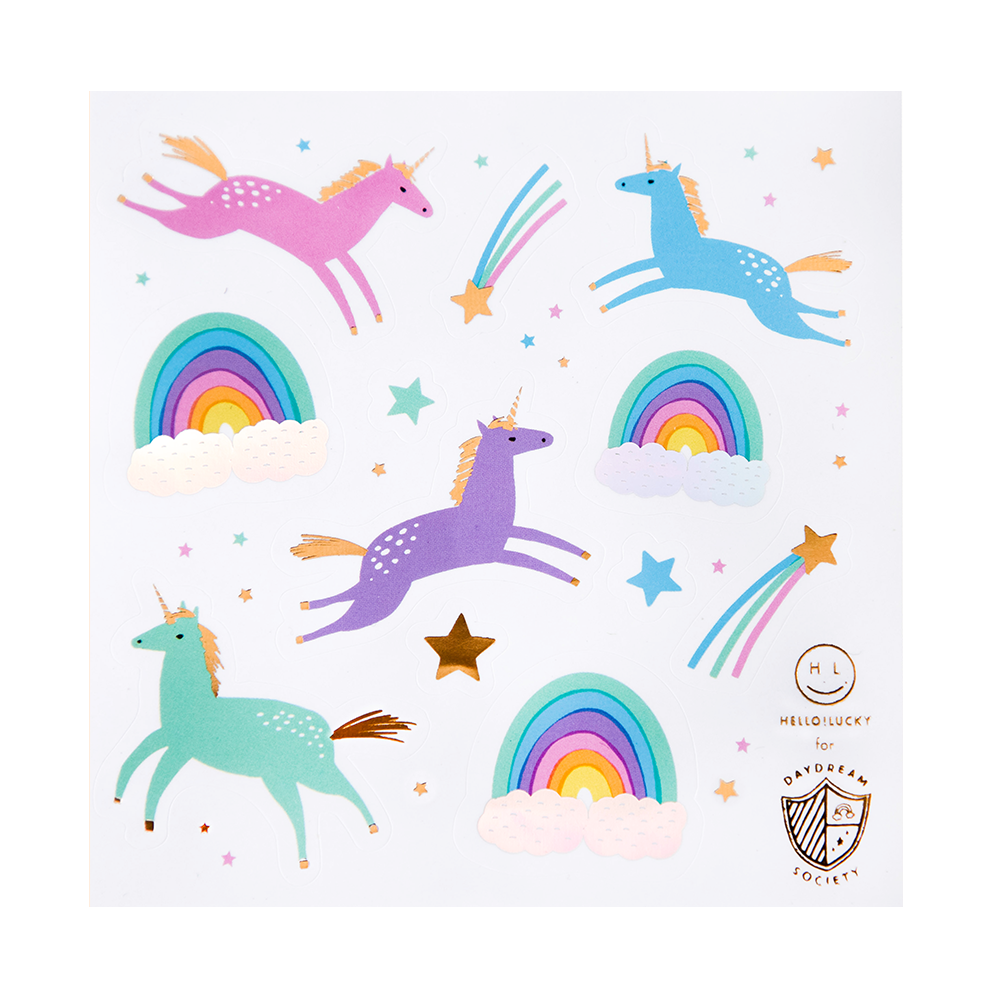 Magical Unicorn Sticker Set from Daydream Society