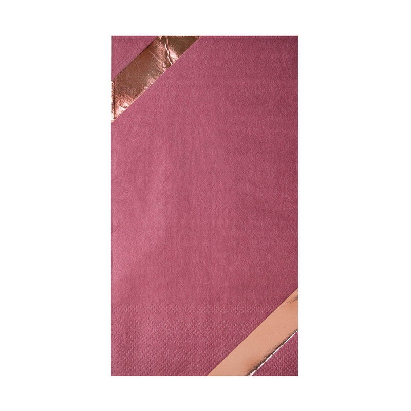 Mauve-Elous Guest Napkin from Jollity & Co
