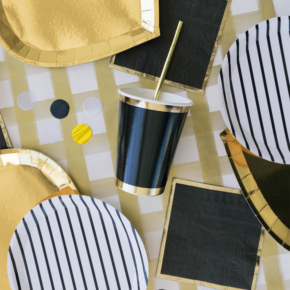 Posh Cocktail Napkin, Noir from Jollity & Co