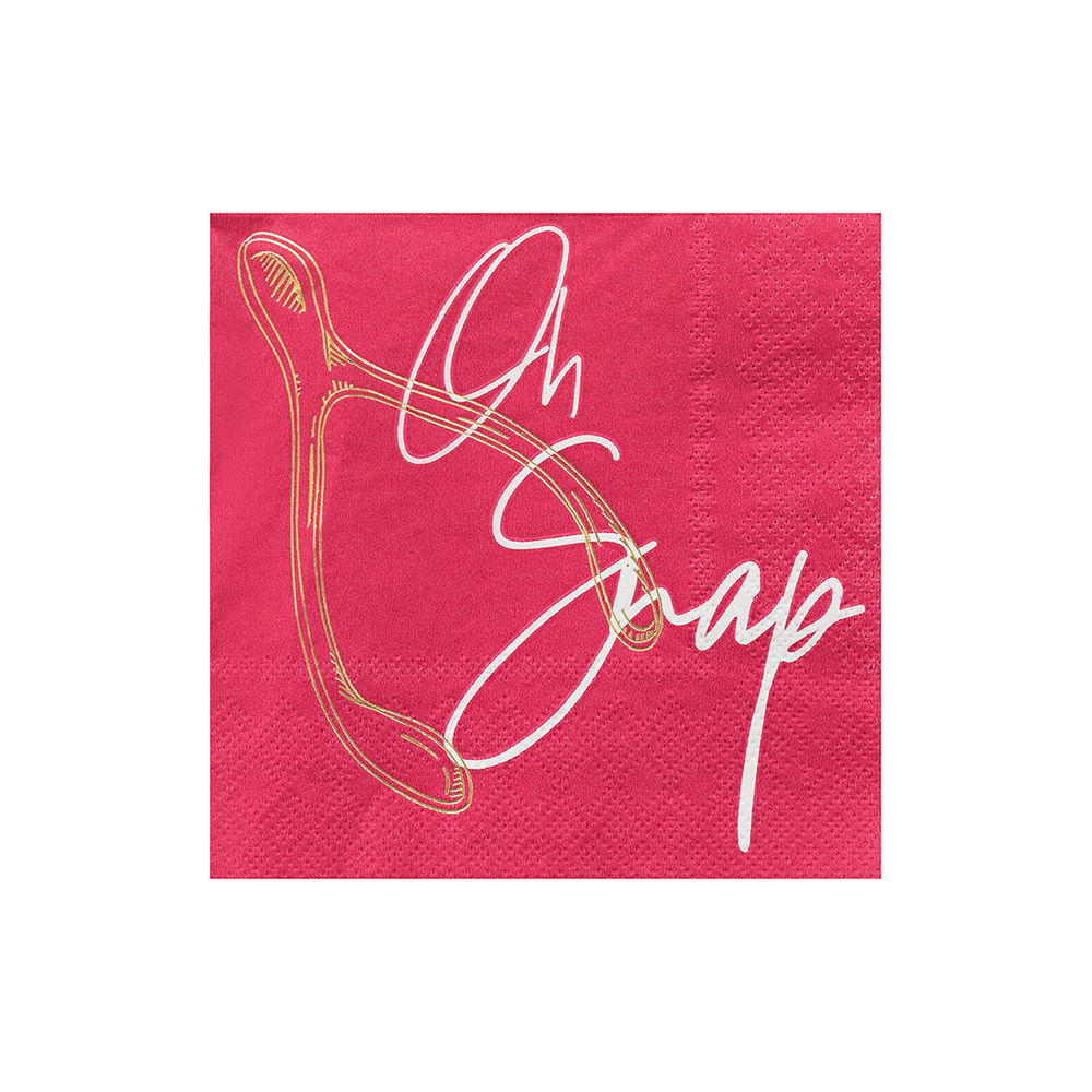 """Oh Snap"" Gather Cocktail Napkins"