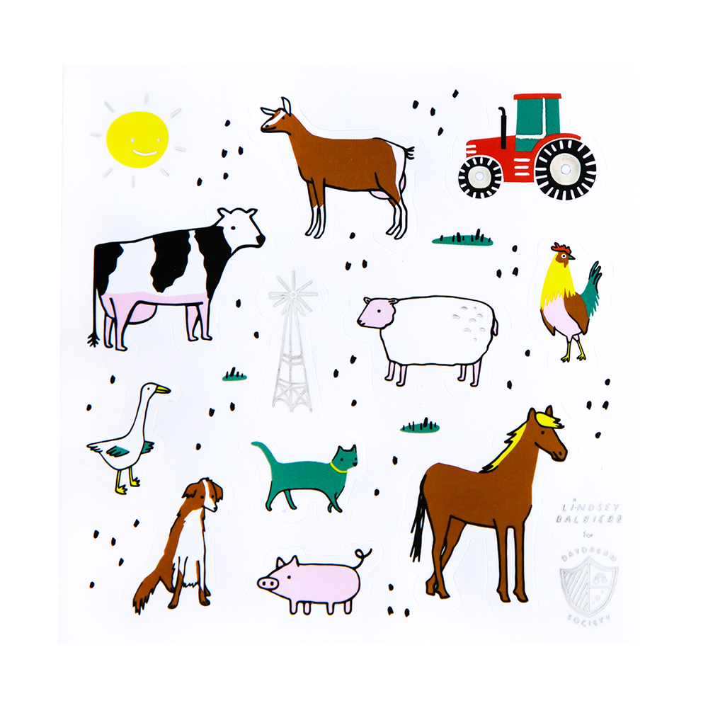 on the farm sticker set by daydream society
