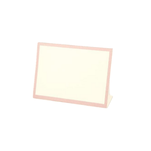 Pink Framed Place Cards
