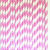 Striped Paper Straws, 10 Styles