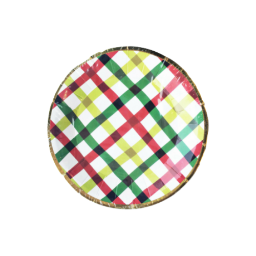Holiday Plaid Canapé Plates