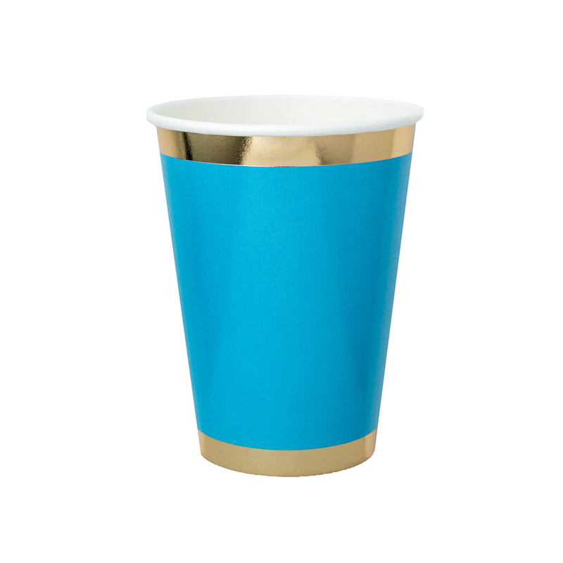 Posh Blue My Mind 12 oz Cups from Jollity & Co