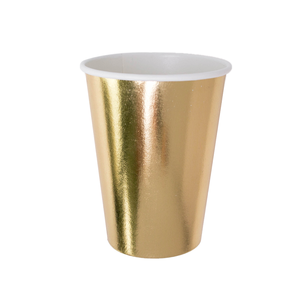 Posh Gold To Go 12 oz Cups from Jollity & Co