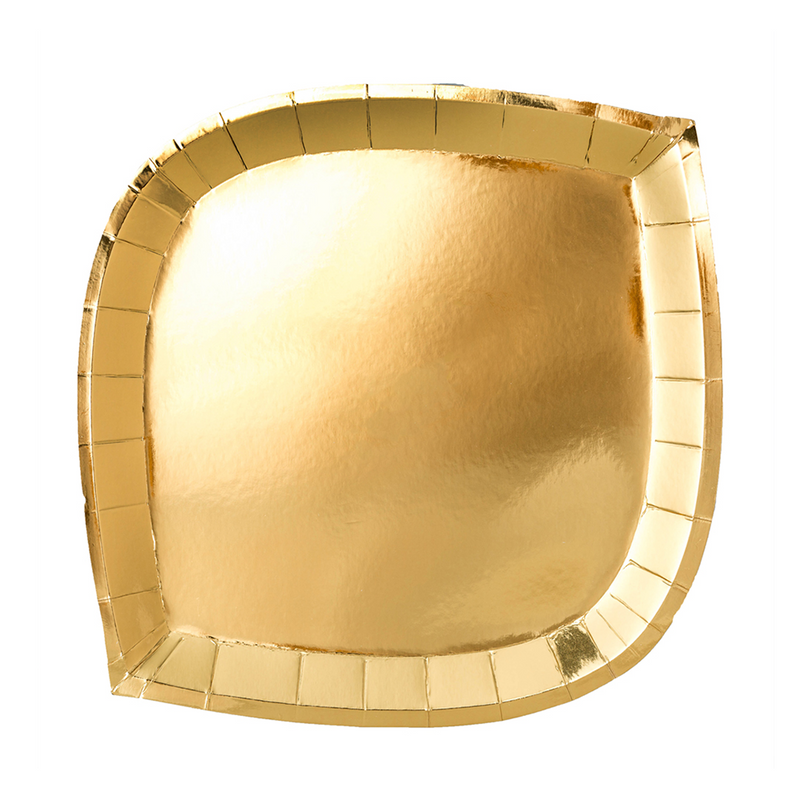 Posh Gold To Go Dinner Plates from Jollity & Co