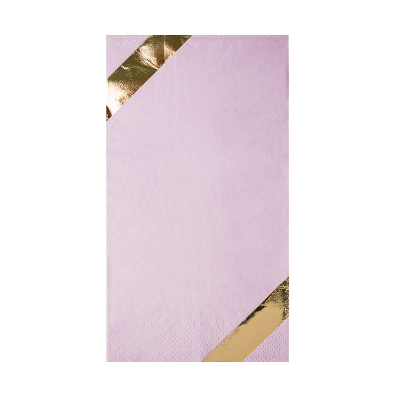 Posh Guest Napkin Lilac You Lots, from Jollity & Co
