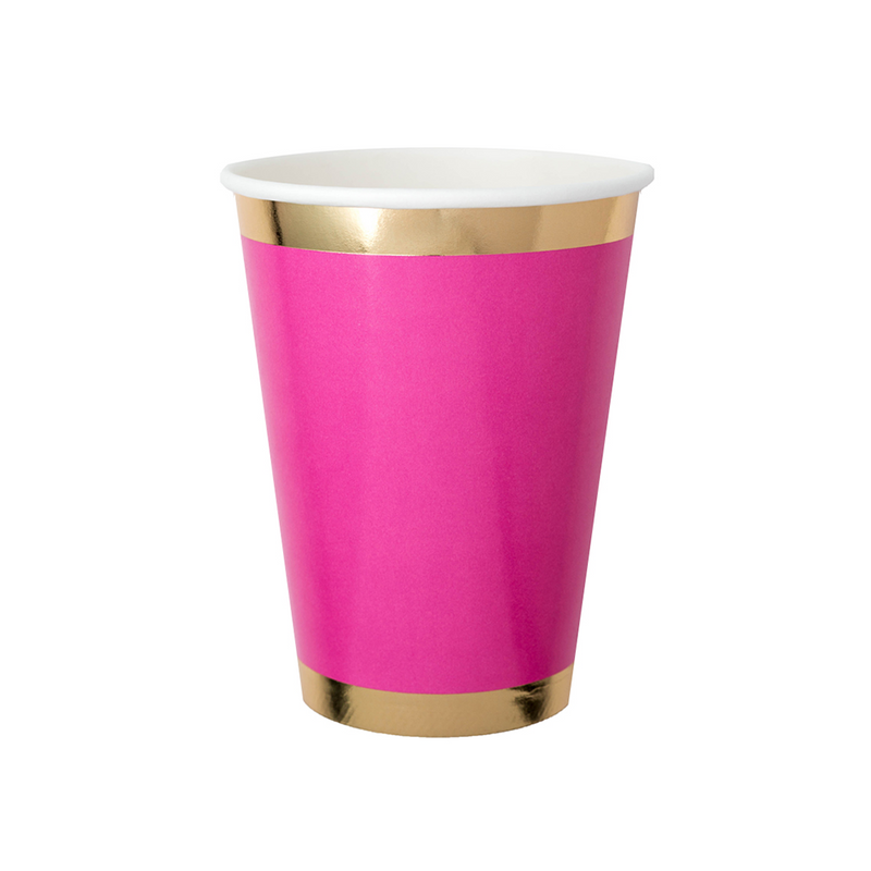 Posh Pinky Pie 12 oz Cups from Jollity & Co
