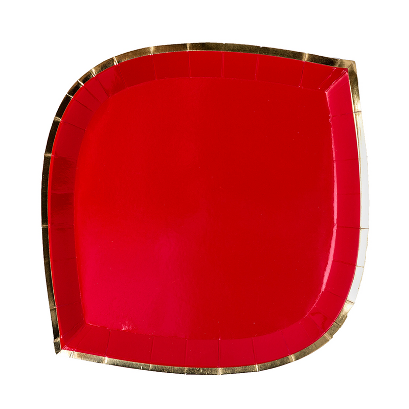 Posh Ruby Kiss Dinner Plates from Jollity & Co