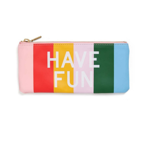 Have Fun & Work Hard Pencil Pouch