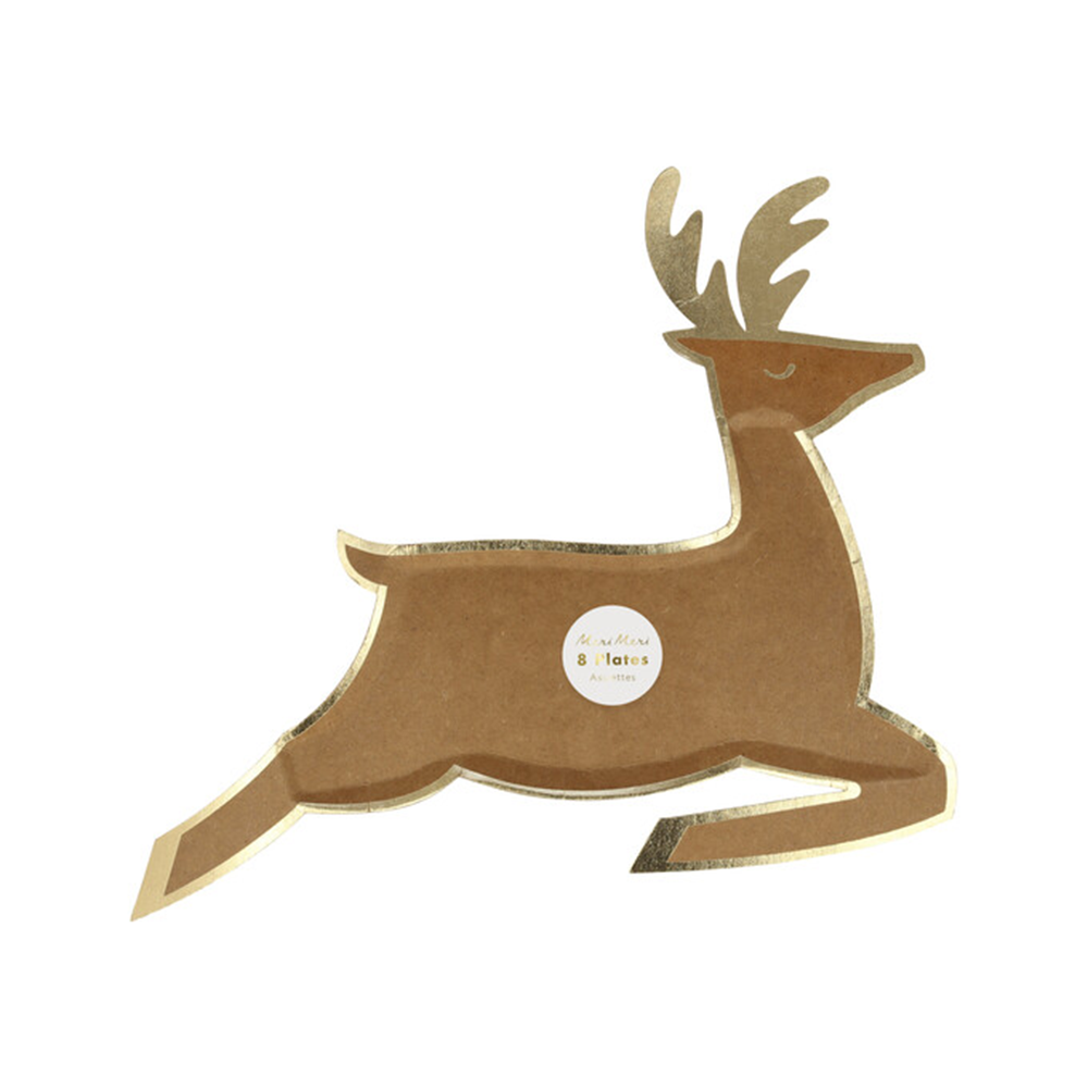 Leaping Reindeer Dinner Plate