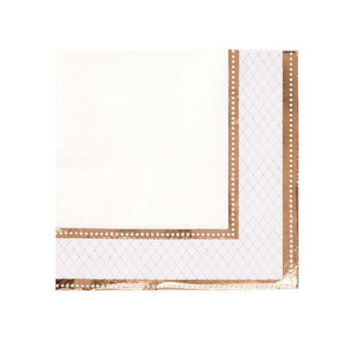 Rose Gold Cocktail Napkins