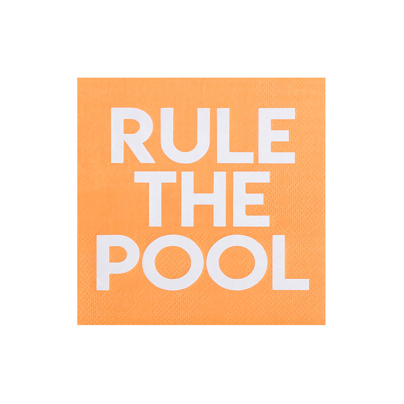"""Rule the pool"" cocktail napkins from Jollity & Co"