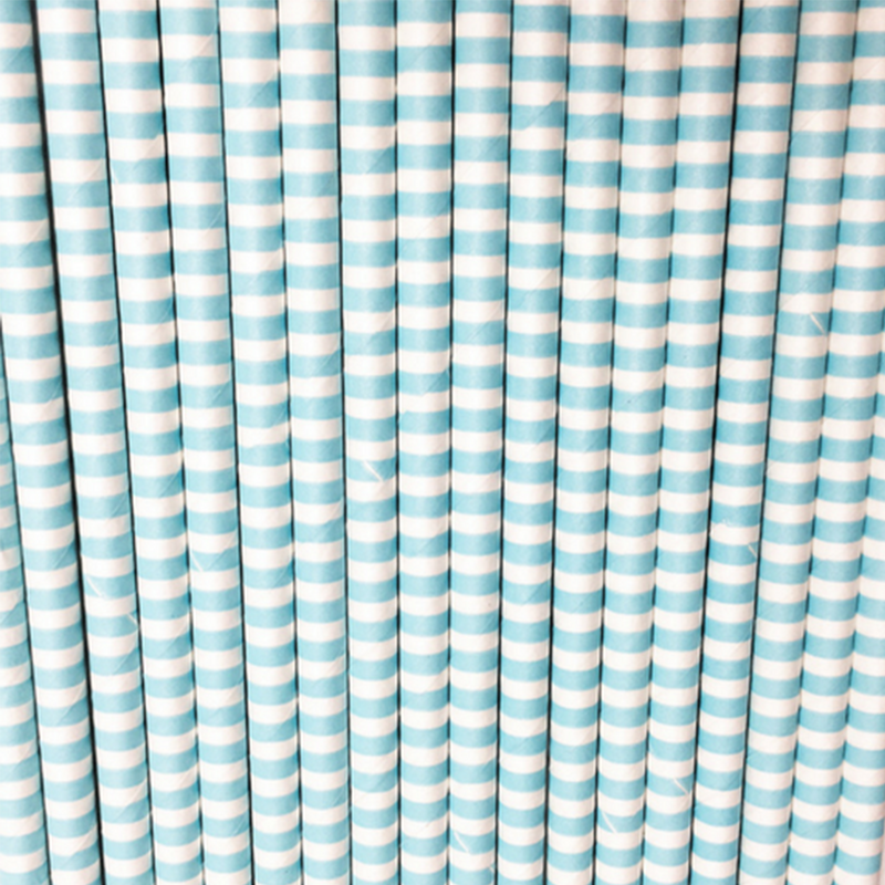 Thin Striped Paper Straws, 6 Styles
