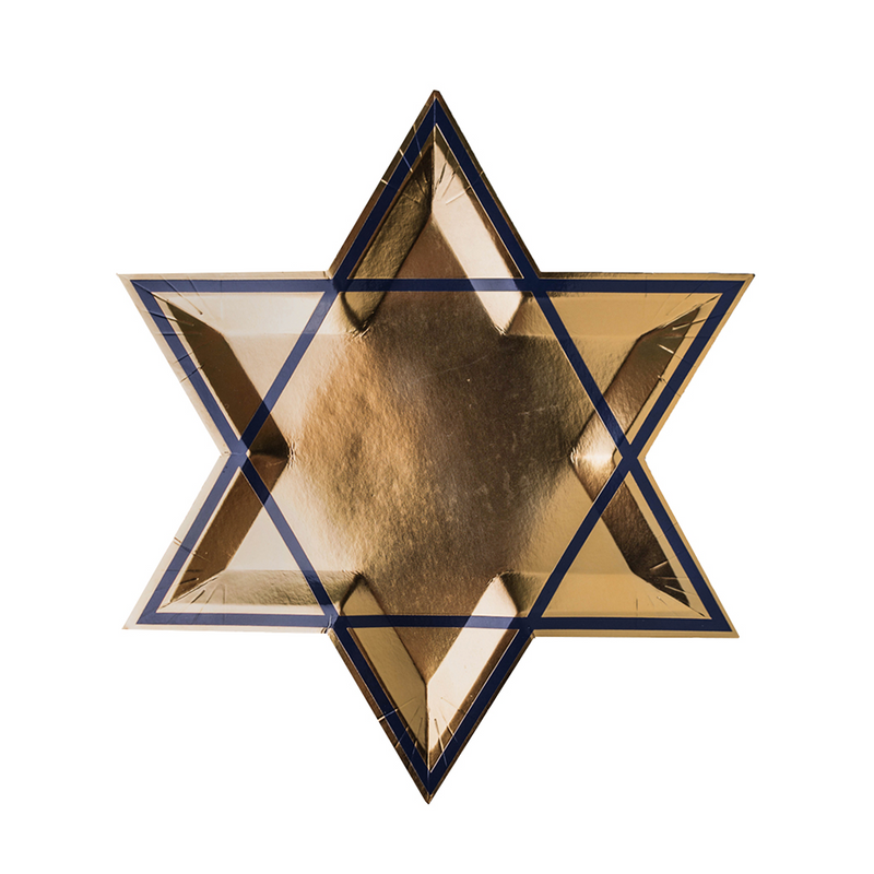 Happy Challah Days Star of David  Dinner Plates from Jollity & cO
