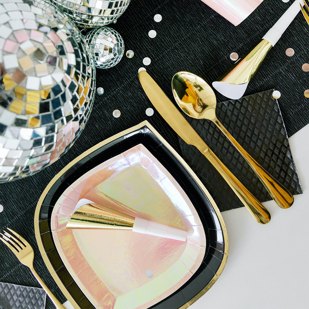 Posh Noir Dinner Plates from Jollity & Co
