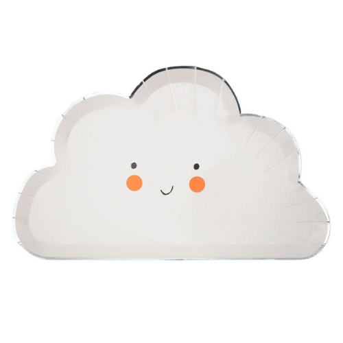 Die-Cut Cloud Plates, Jollity & Co