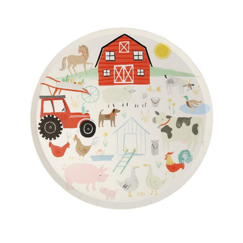 Farm Printed Dinner Plates, Jollity & Co