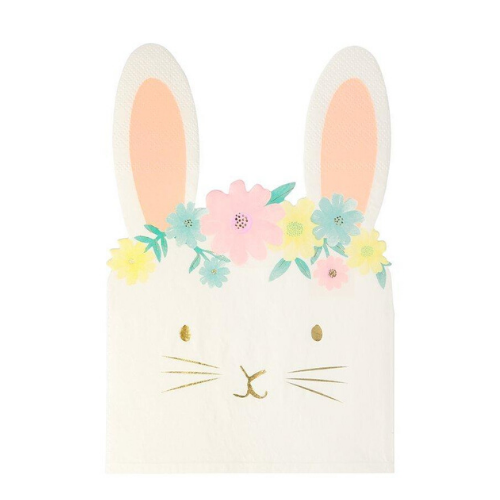 Die-Cut Floral Bunny Napkins, Jollity & Co
