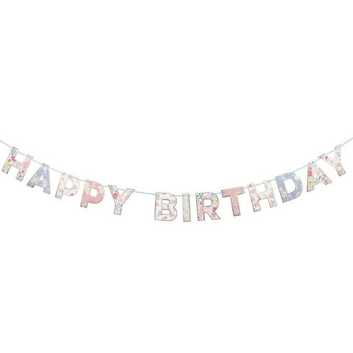 Floral Print, Happy Birthday Banner, Jollity & Co