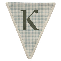 Fabric Bunting Letter K