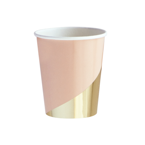 Pink and Gold Foil Cups